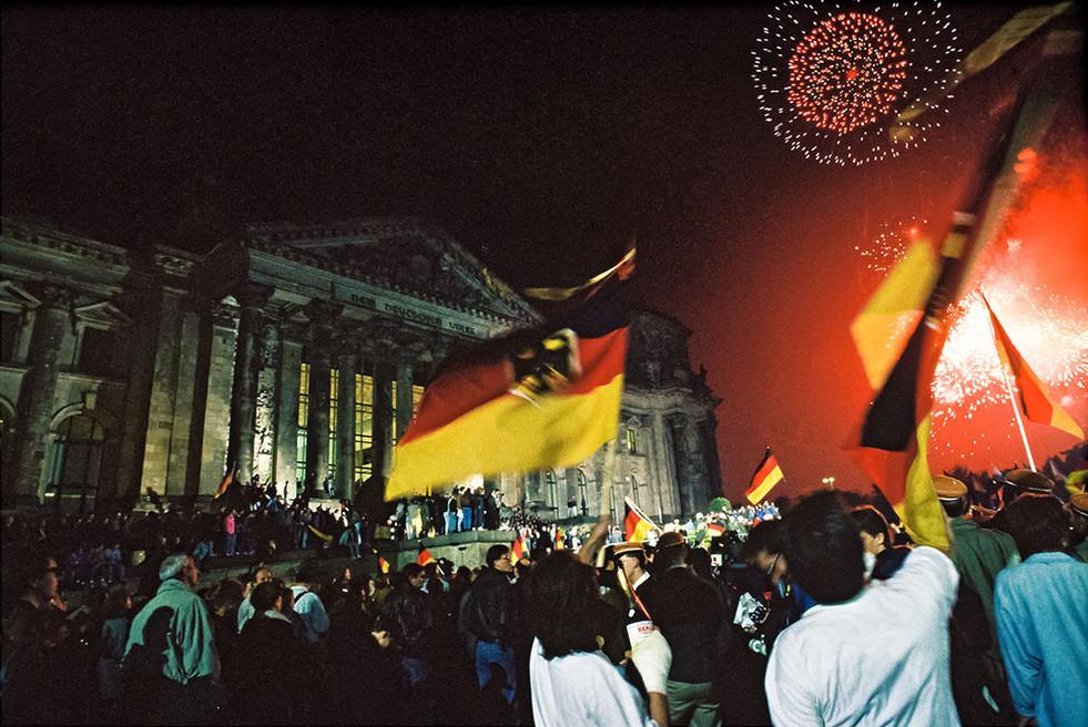 Berlin Wiedervereinigung 3. Oktober 1990 Reichstag