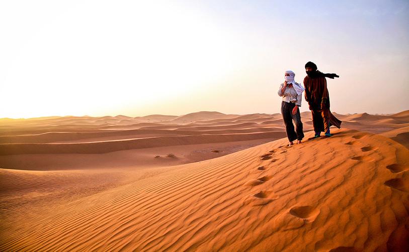 Wanderung in der Sahara Marokko