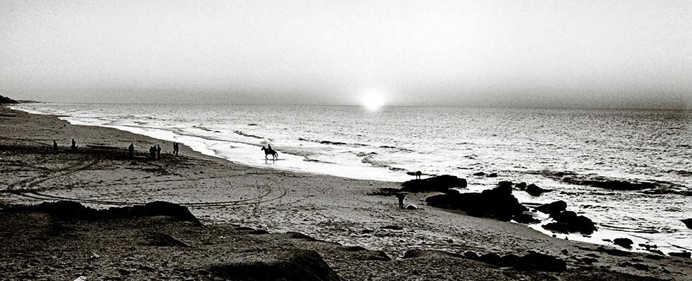Gaza Sonnenuntergang am Beach Camp  1994