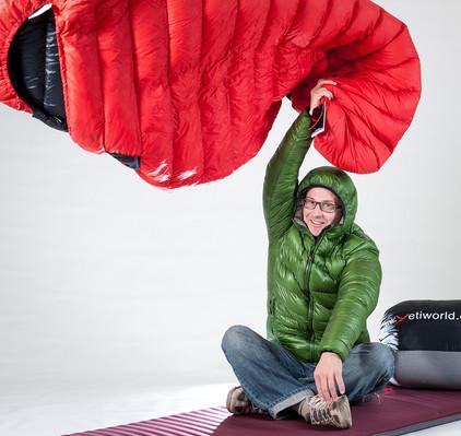 Reportage bei Yeti Daunenschlafsäcke