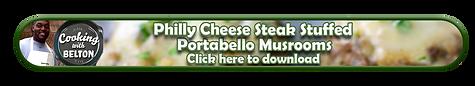 Philly Cheese steak portabello Mushroom.