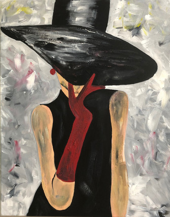 $65   Woman behind the hat