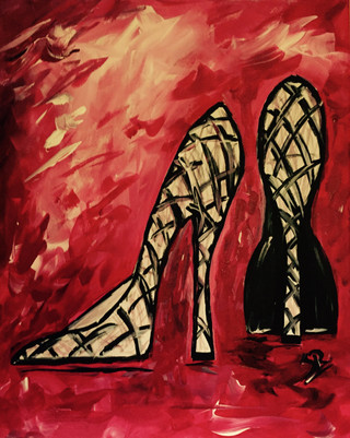 $40   Heels in red