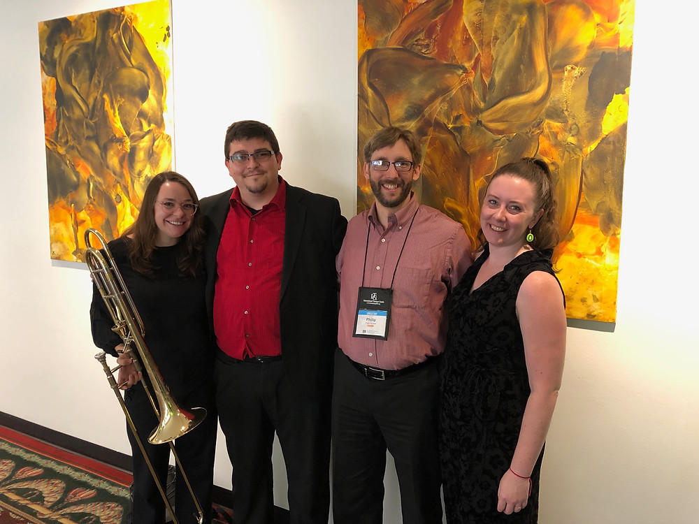 (Left to right) Jessica Hawthorne, Chase Hawkins, Philip Spaeth, Kristina Finch