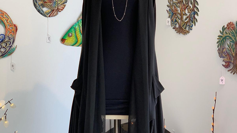 Solid Black Duster