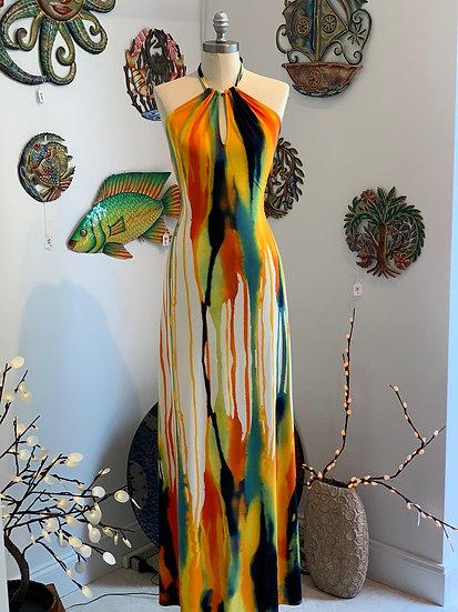 Watercolor Maxi Dress
