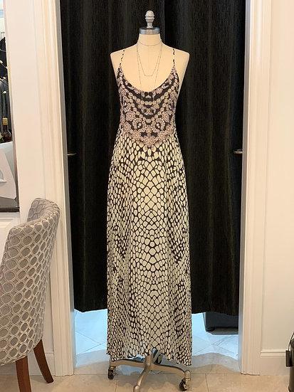 Leopart Silk T-Back Dress