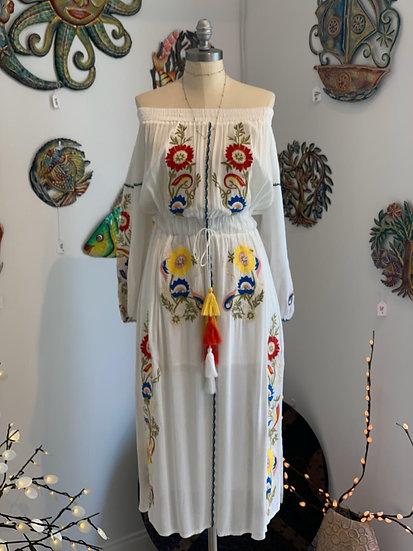 Off Shoulder Flower Dress