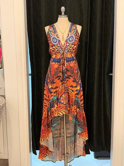 Animal Print Hi-Low Dress