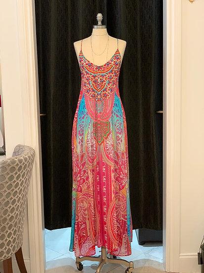 Morroco Silk T-Back Dress