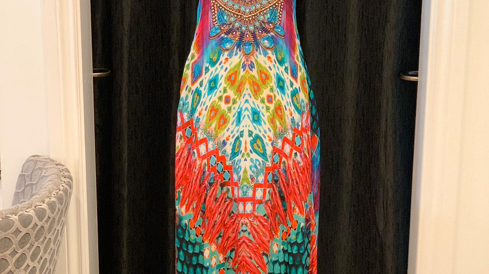 FB 103 Jungle Queen Silk T-Back Dress