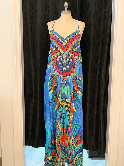 Falcon Feathers T-back Dress