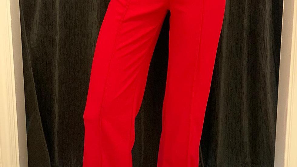 Red Straight Leg pants