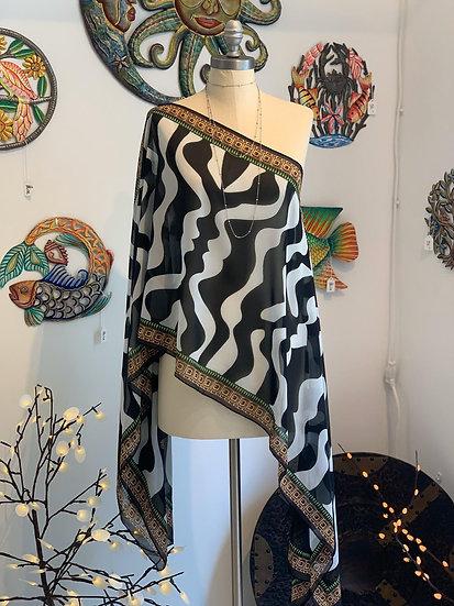 Zebra Print Poncho