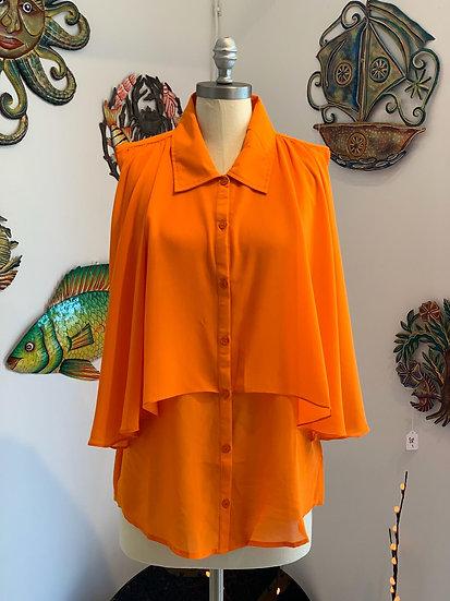 Sleeveless Orange Top