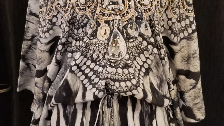 FB 101B Zebra Queen Lotta Dress