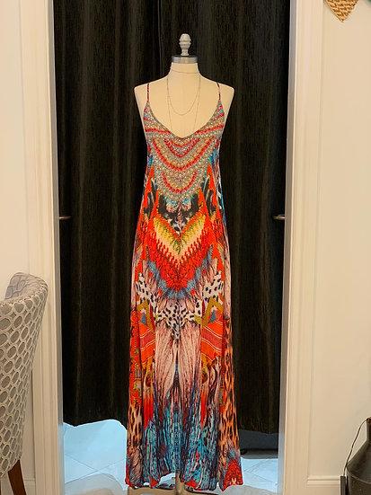 Darjeeling Silk T-Back Dress