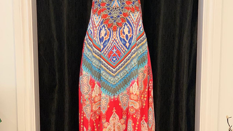 Tribal Ikat T-back Dress