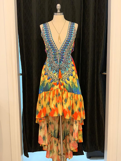 Colorful Hi-Low Dress