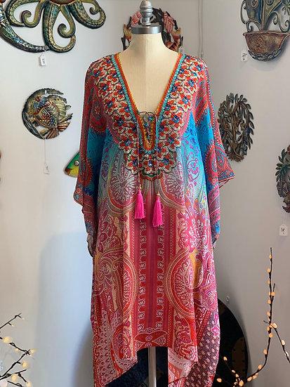 Morroco Summer Silk Kaftan Top