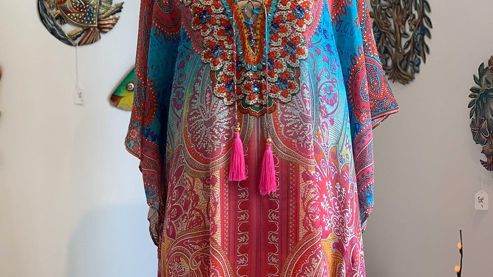 Morroco Summer Silk Kaftan Top