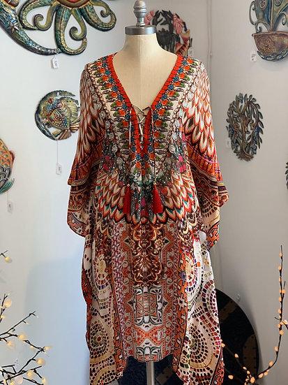 Cleopatra Silk Short Kaftan
