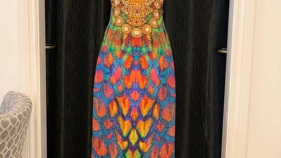 Birds Of Paradise Silk T-Back Dress