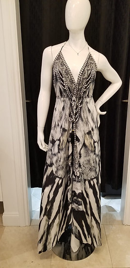 Zebra Queen Maxi Dress