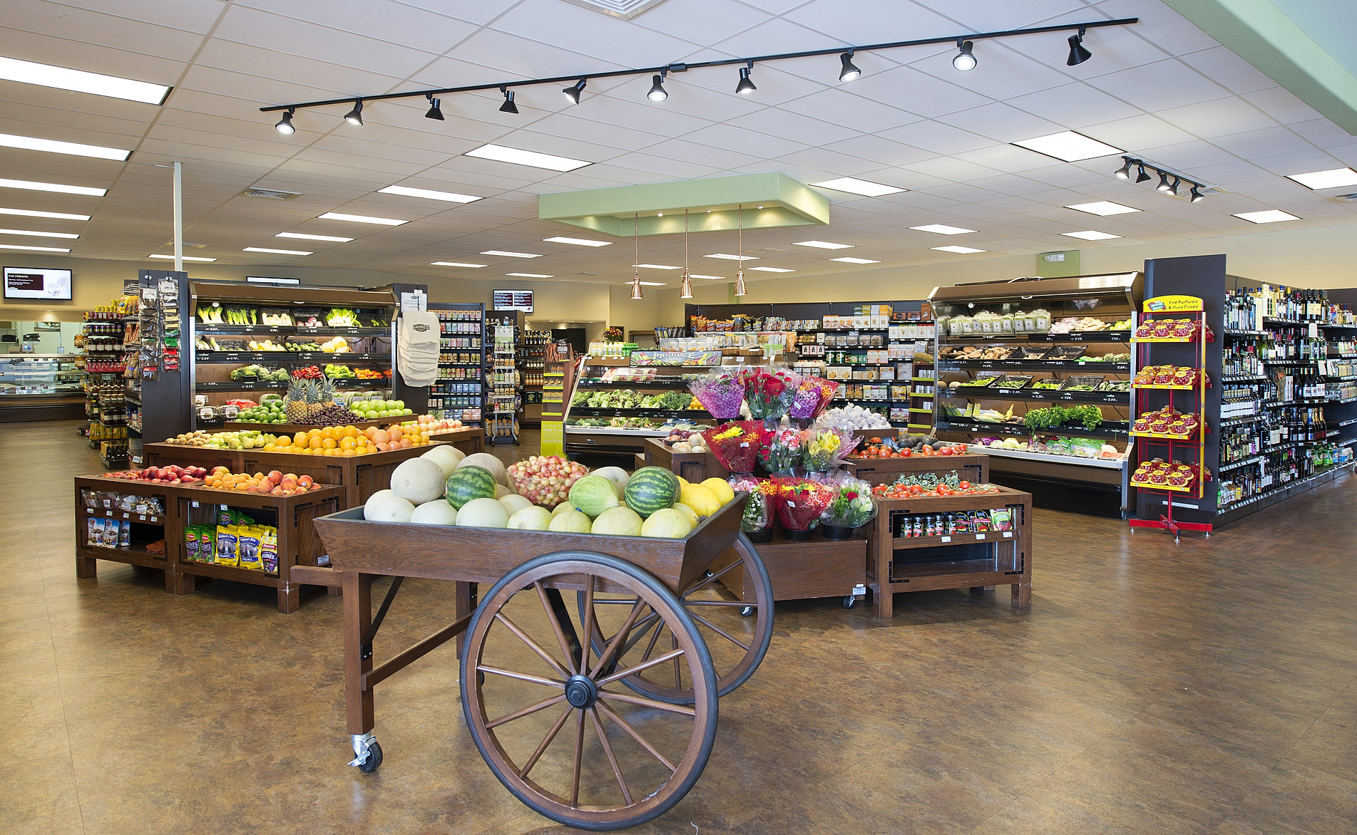 supermarket design layout Supermarket decoration design and signs : produce department signs, large dimensional signs, vintage signs that are custom designed and ordered online.