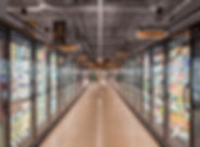 36)  Shot down frozen food aisle from Cr