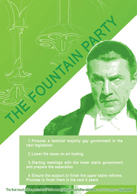The fountain party- bela lugosi for pres