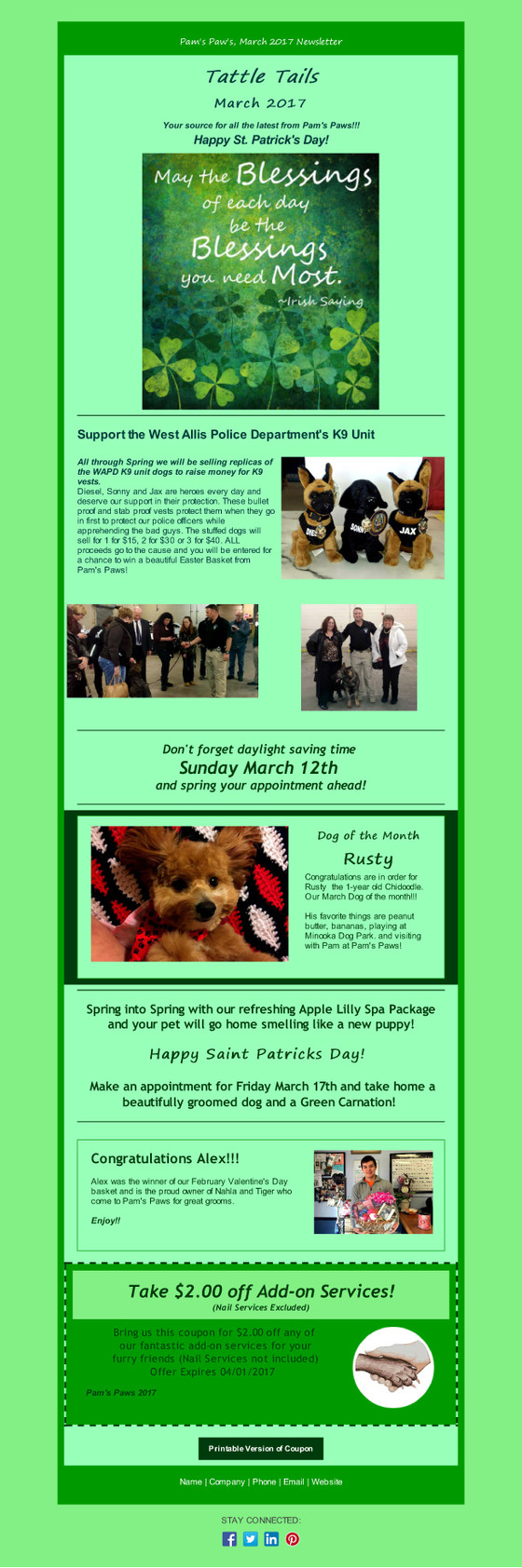 The March Newsletter is here!
