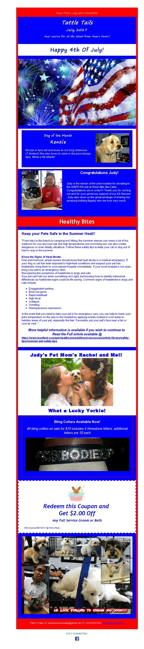 The July Newsletter! Take a look!
