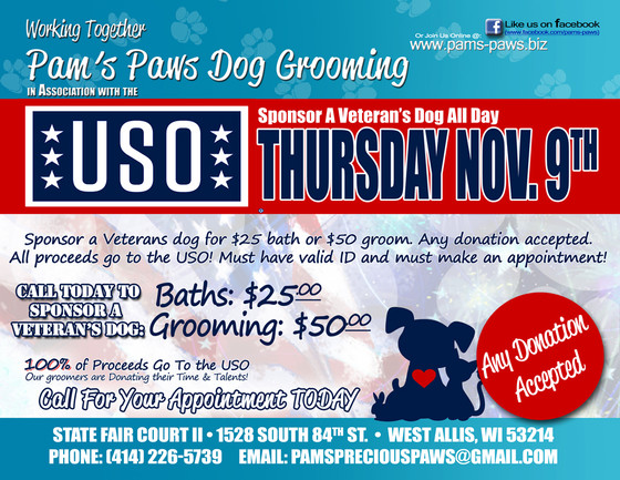 Support the USO with Pam's Paws