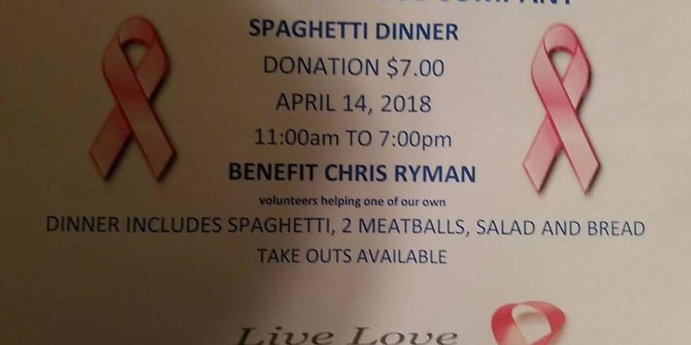 Spaghetti Dinner For Chris Ryman
