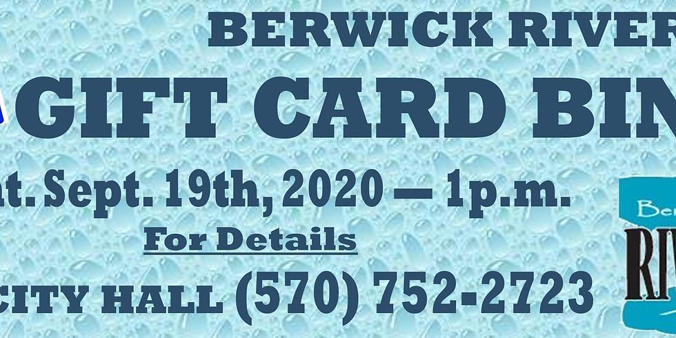 GIFT CARD BINGO -- Hosted by Berwick Riverfest Committee