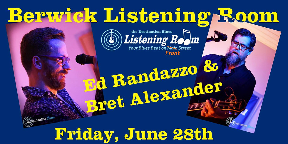 Destination Blues Berwick Listening Room with Ed and Bret
