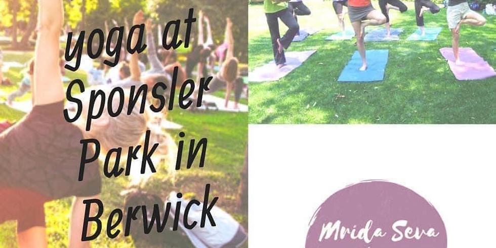 FREE cOMmUNITY Yoga at Sponsler Park