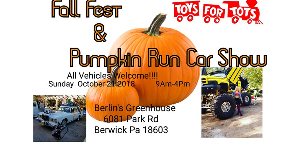 Fall Fest & Pumkin Run Car Show @ Berlin's