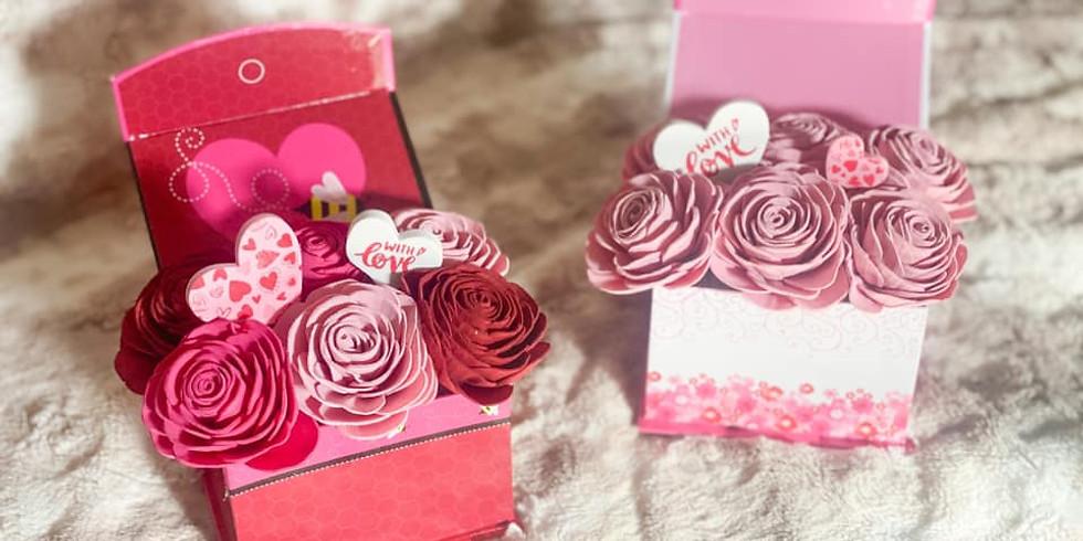 Wood Flower Workshop Fundraiser- Valentine Box