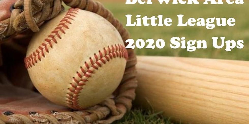 2020 Berwick Little League Sign Ups