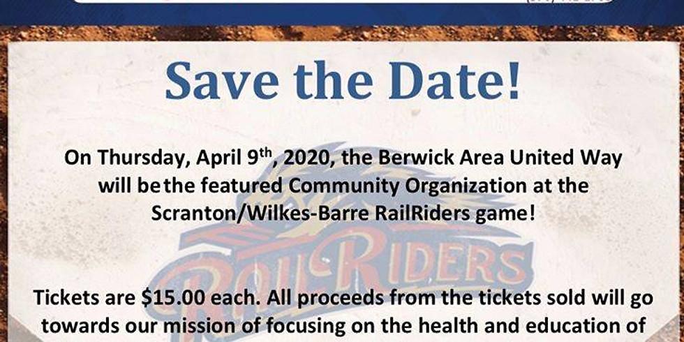 Berwick United Way to RailRiders Game