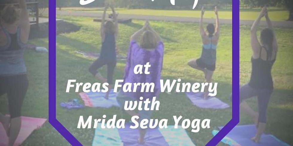 Sunset Yoga at Freas Farm Winery