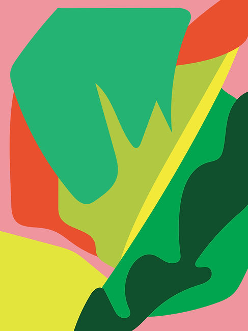 Colourful, abstract design 'Lime'.