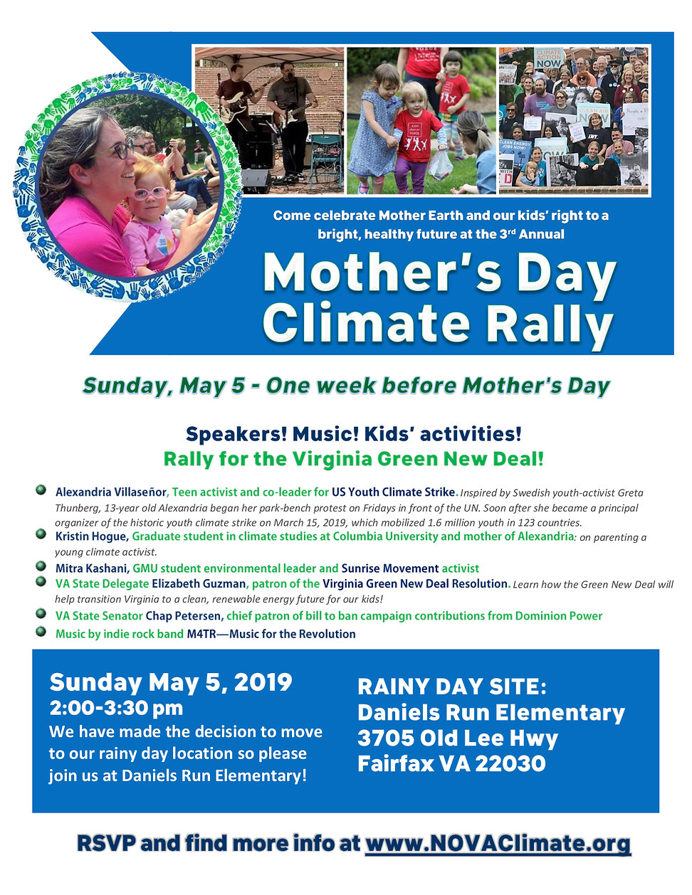 Mother's Day Climae Rally Rainy Day Flye