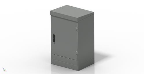 Single Door Cabinet 19'' Rack 16U