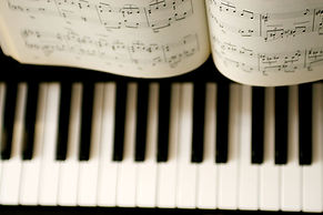 Piano, music book