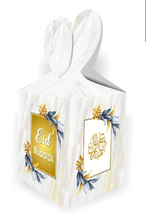 Eid Gift Boxes 2020   White & Gold Marble Gift Box