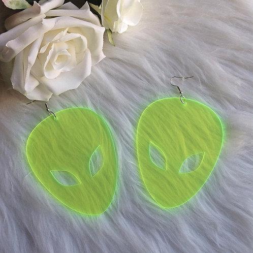 ALIEN GREEN EARRINGS