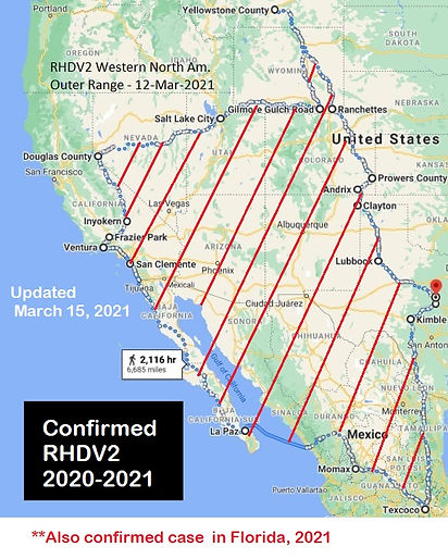 Confirmed rhdv2 map west March 15 2021 s